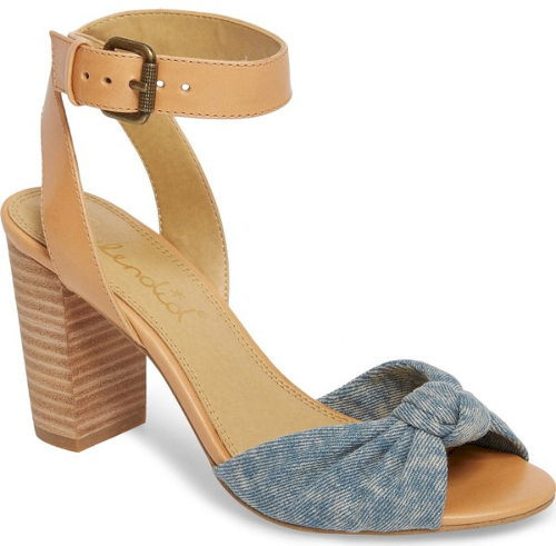 e76529715fd9 Splendid Bea Knotted Sandal in Blue. A perfectly dimpled knot cinches the  toe of a casual