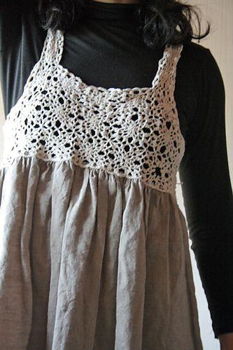 a crochet dress I made in 2009
