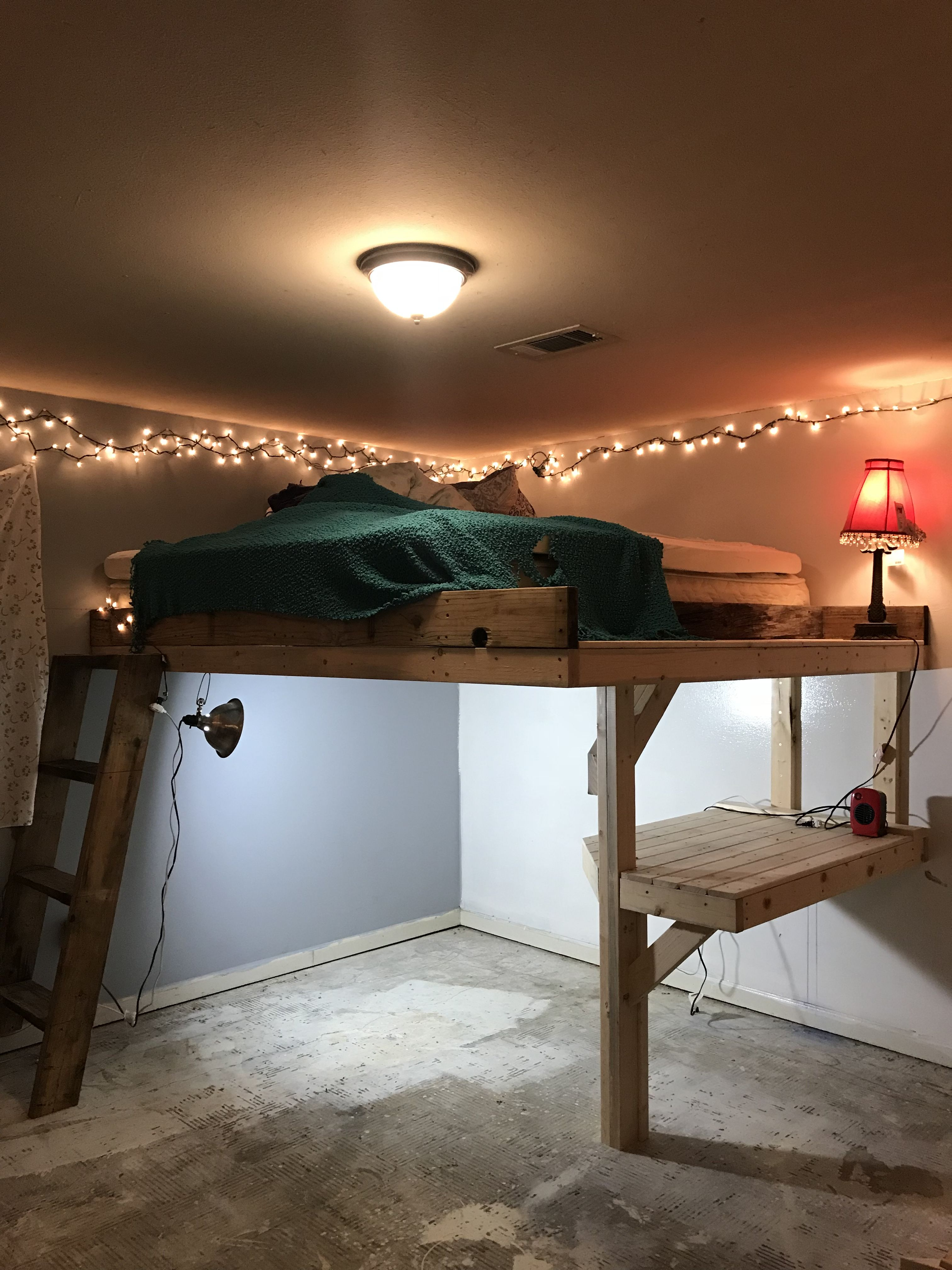 King Size Loft Bed Made By Anthony Ardoin Diy Loft Bed Loft Bed Plans Dream Rooms