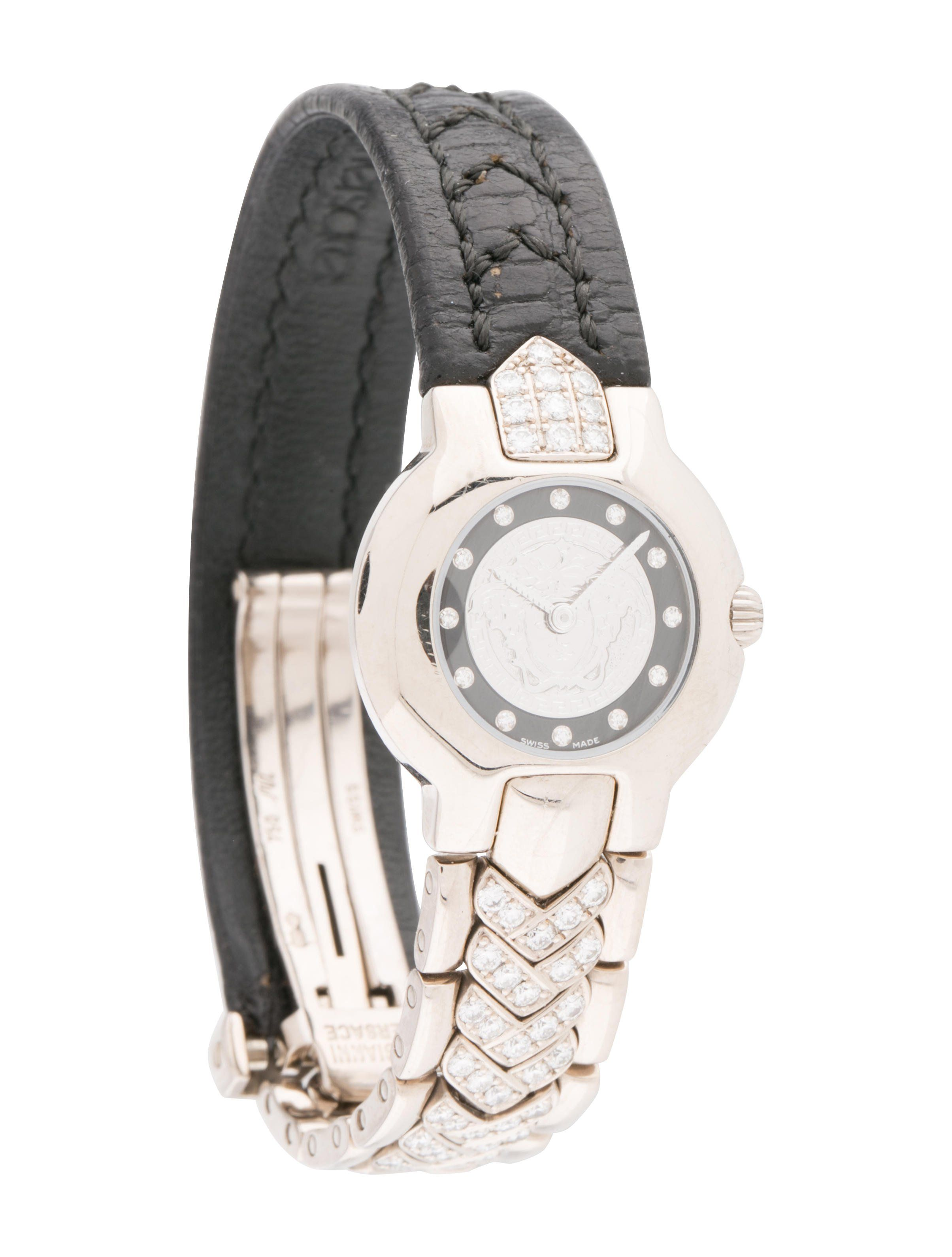 Limited edition k white gold mm versace vcouture watch