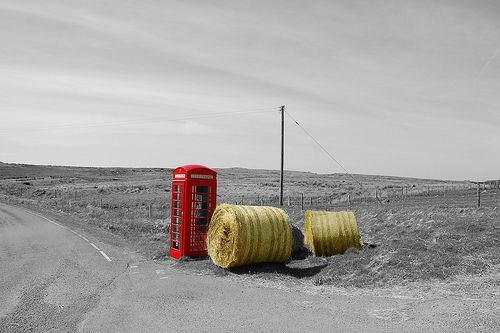 Scottish telephone booth  Telephone booth in the middle of nowhere on Isle of Skye