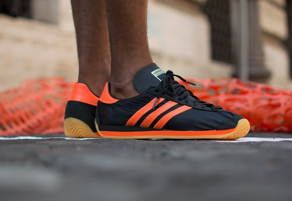 Adidas originali paese og: nero / orange calzature pinterest