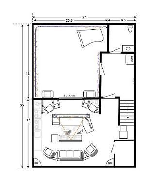 Recording studio designs plans google search studios for Photography studio floor plans