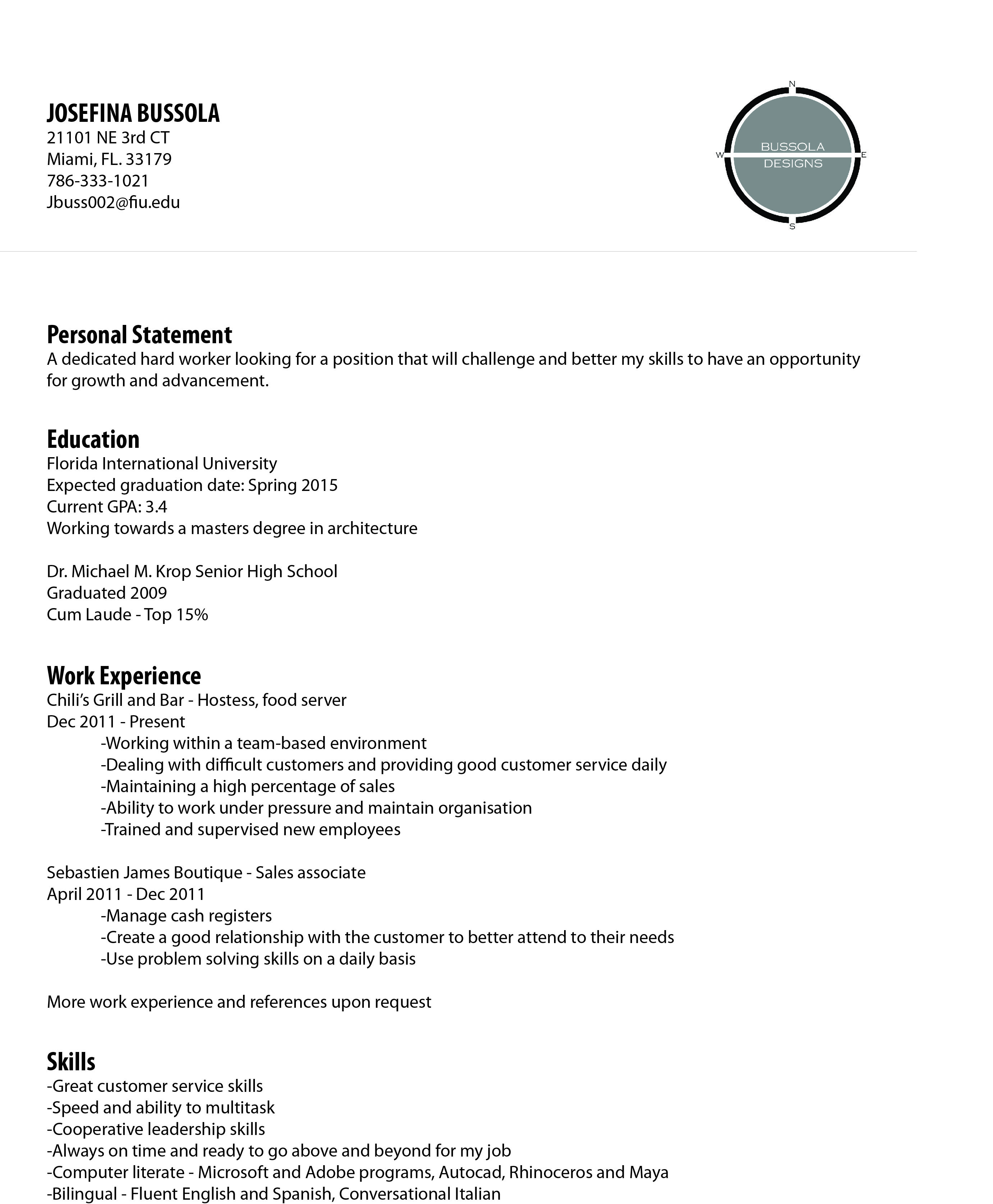 """""""Curriculum Vitae"""" Assignment Resume design, Personal"""