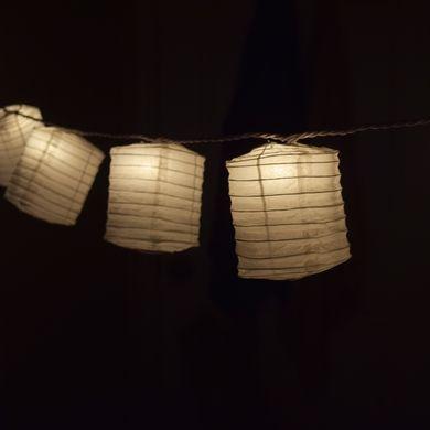 White Hako Box Shaped Paper Lantern String String Lights (8FT