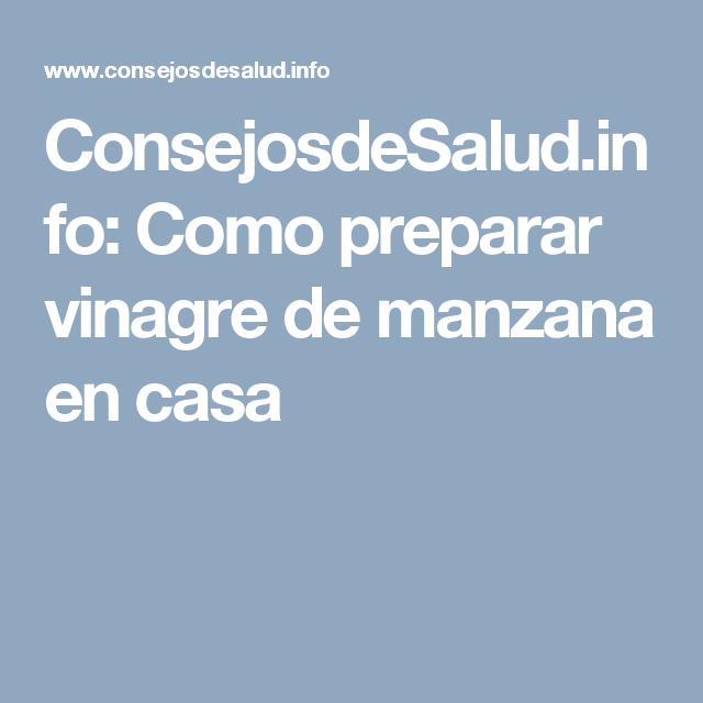 ConsejosdeSalud.info: Como preparar vinagre de manzana en casa