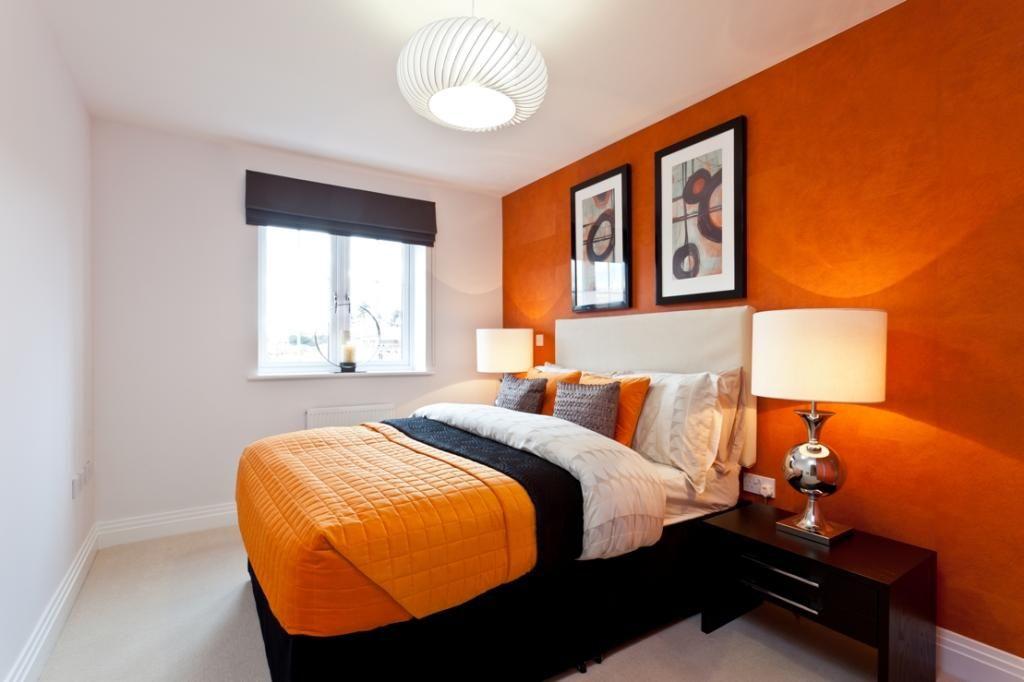 Pin By Justine Elliott On Spare Bedroom Orange Bedroom Decor