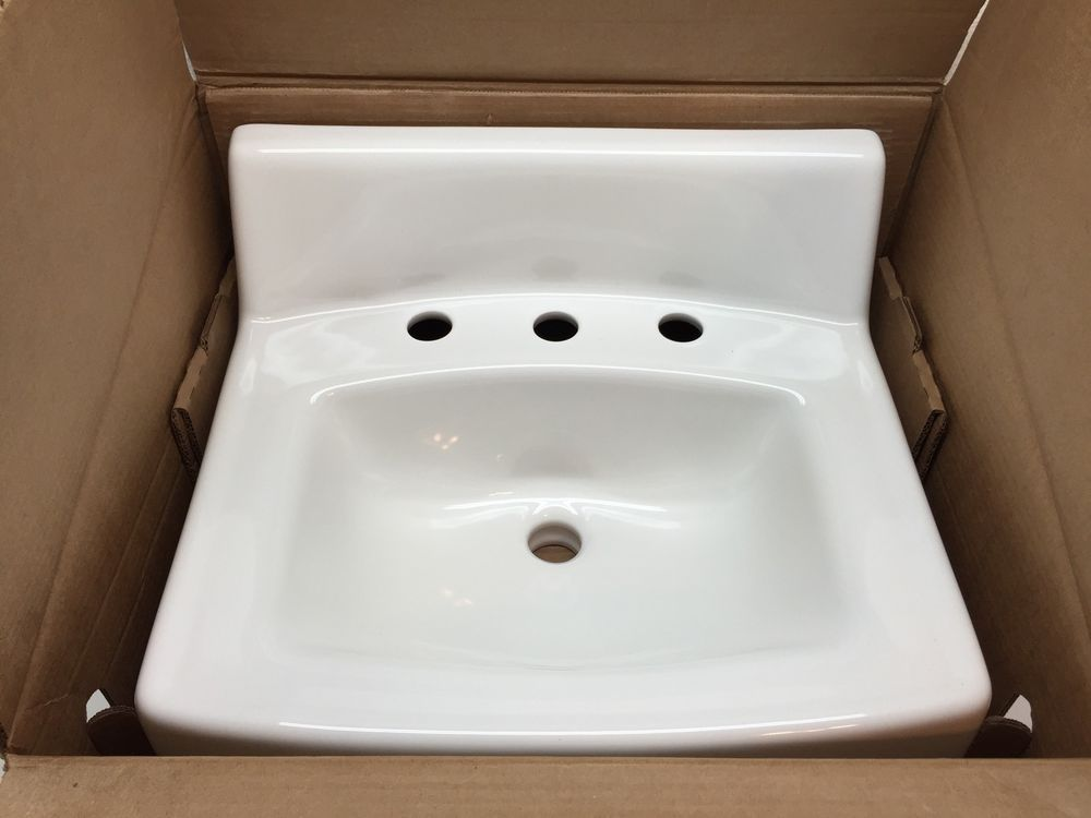 Bathroom Sinks On Ebay kohler company 114701 kohler greenwich lavatory wall mount 20x18 8