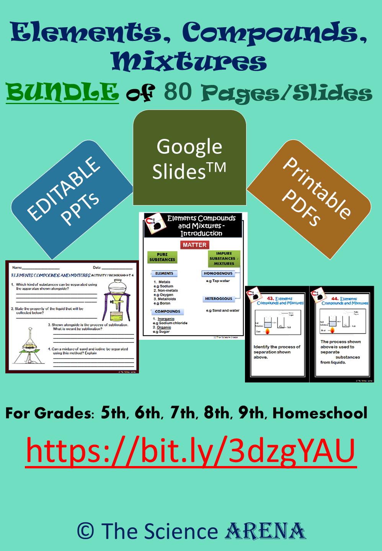 Elements Compounds Mixtures Bundle Google Slidestm Editable Ppt Pdf Compounds And Mixtures Middle School Resources Resource Classroom [ 1440 x 998 Pixel ]