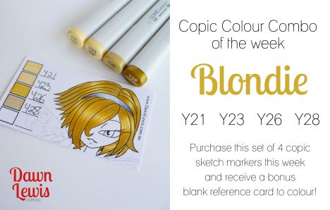 Copic Colour Combo of the week Blondie
