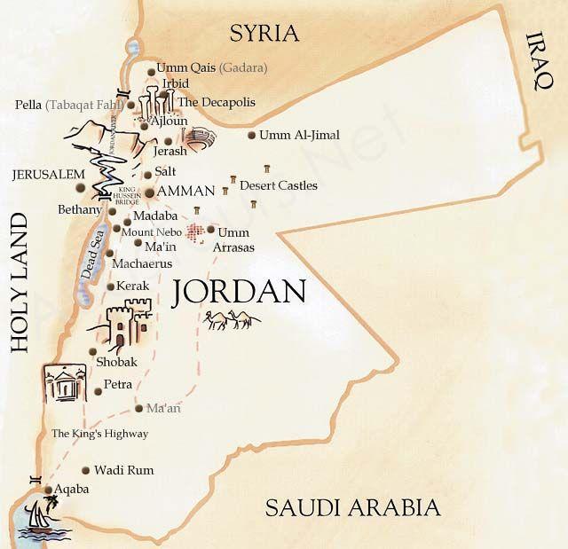 Jordan map sites wonders of the world pinterest jordan map sites gumiabroncs Images