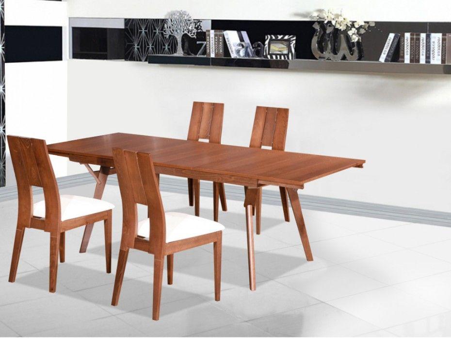 Ensemble Table Extensible Kalanna 6 A 8 Couverts 4 Chaises