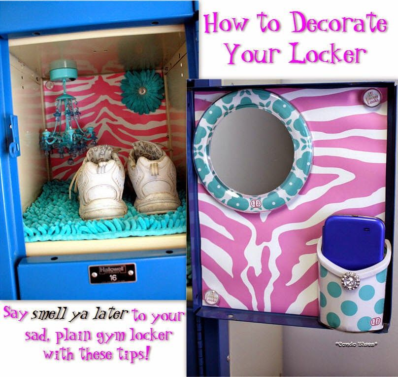how to decorate a gym locker with lockerlookz - Locker Decoration Ideas