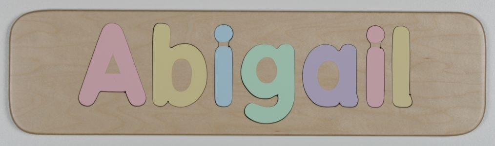 Personalized Wooden Name Puzzle - Handcrafted with Upper and Lower Case Letters.. $14.95, via Etsy.