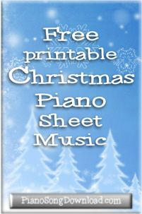 photograph about Free Printable Christmas Cantata called No cost printable Xmas piano sheet new music for all amounts