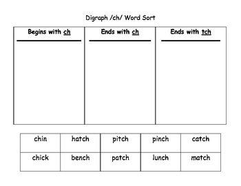 phonics worksheets ch tch 1 first grade phonics worksheets word sorts phonics. Black Bedroom Furniture Sets. Home Design Ideas
