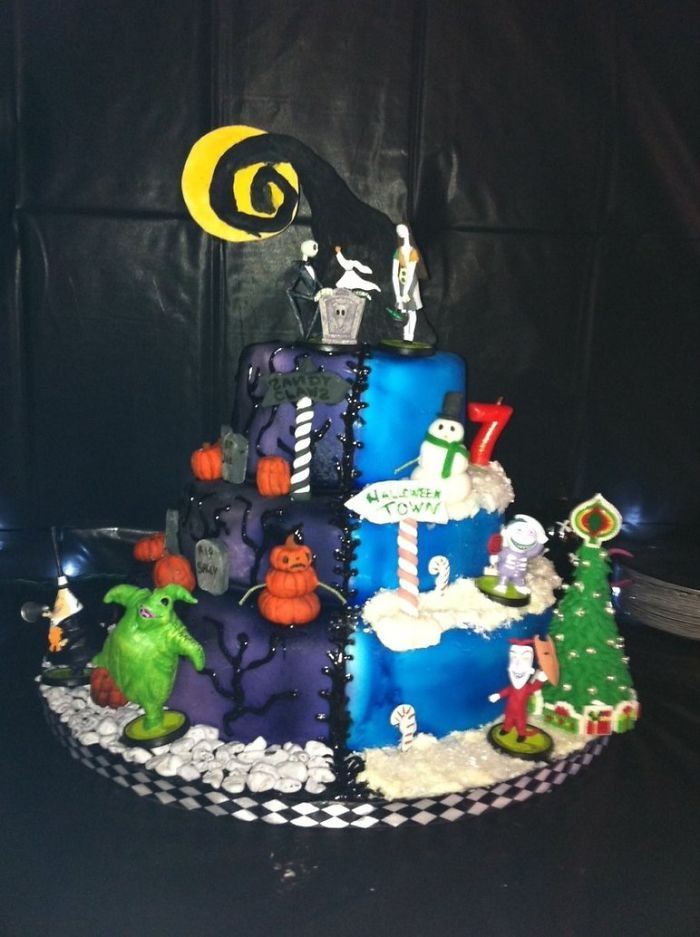The Nightmare Before Christmas cake