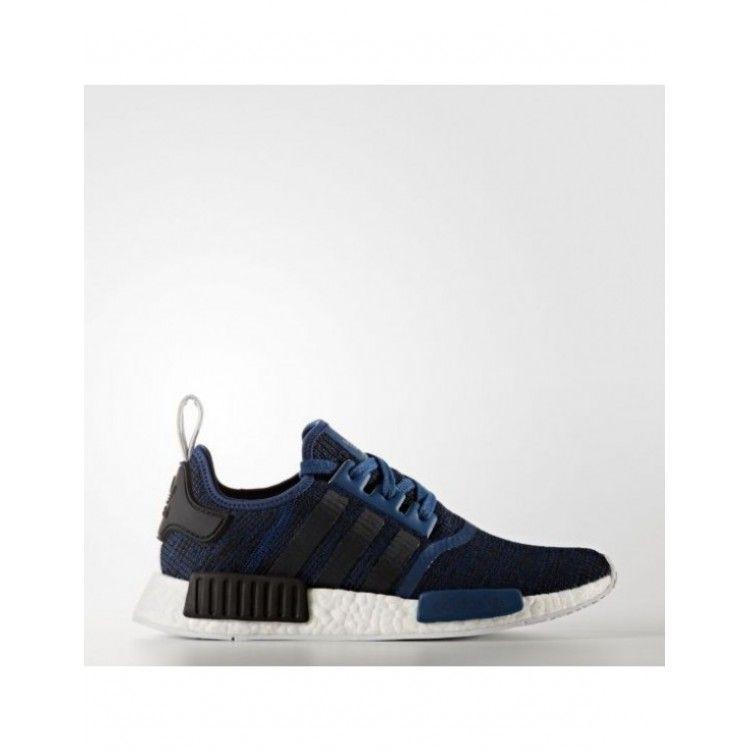 637df9891b9f3 Adidas Womens Originals NMD R1 Black Icey Blue BY9951