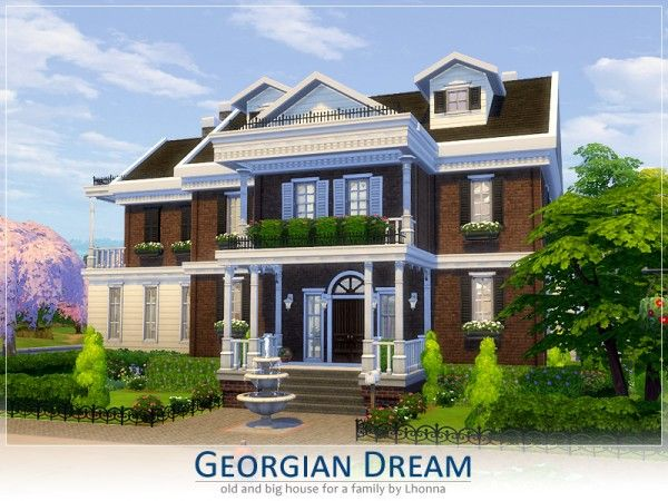 The Sims Resource Georgian Dream By Lhonna Sims 4 Downloads Sims 4 Houses Sims House Sims House Plans
