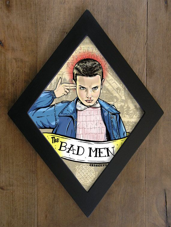 Eleven from stranger things the bad men diamond by for Eleven tattoo stranger things