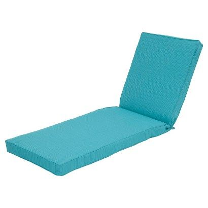 Belvedere Outdoor Replacement Patio Chaise Lounge Cushion   Threshold™    Turquoise