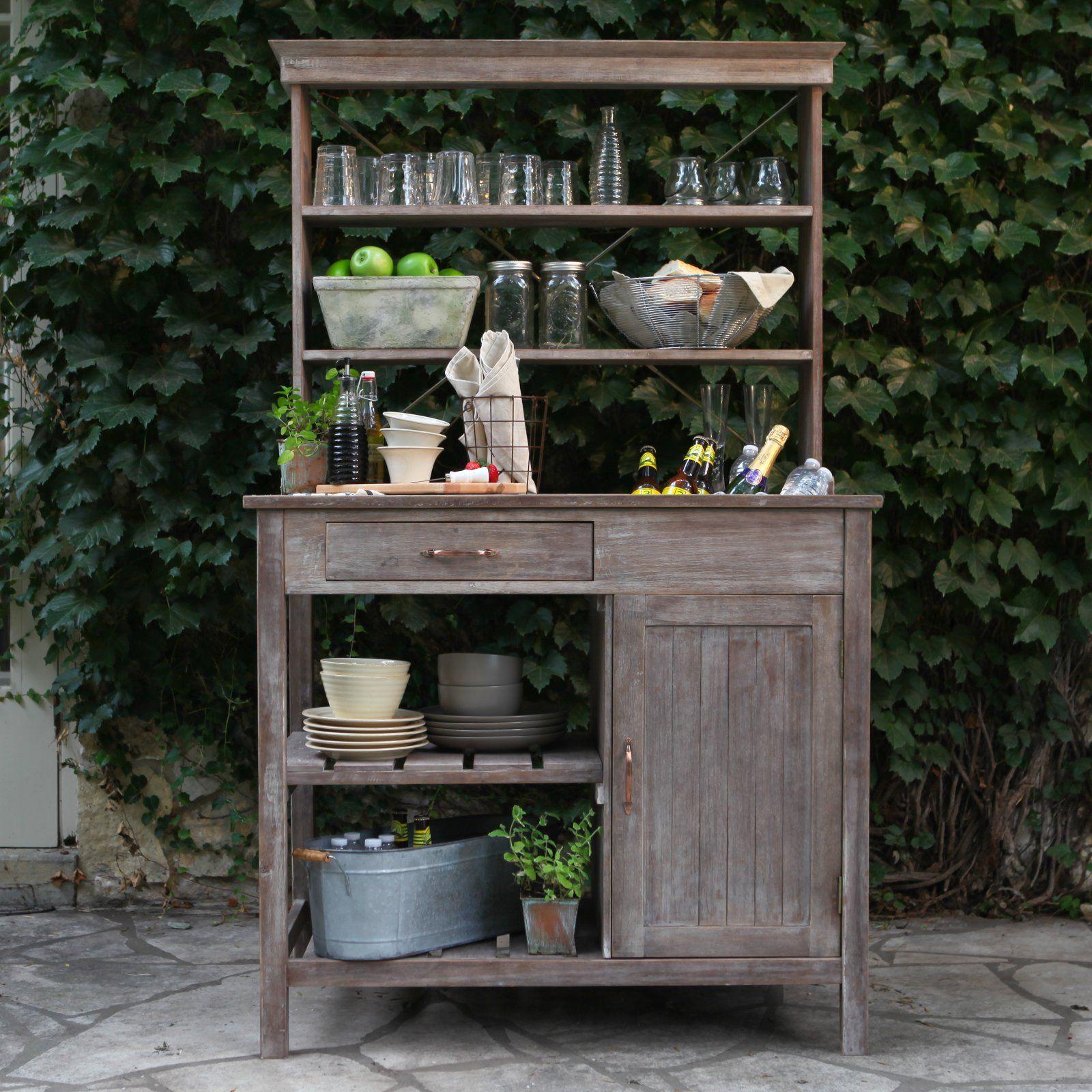 Rustic Outdoor Garden Hutch Ideas