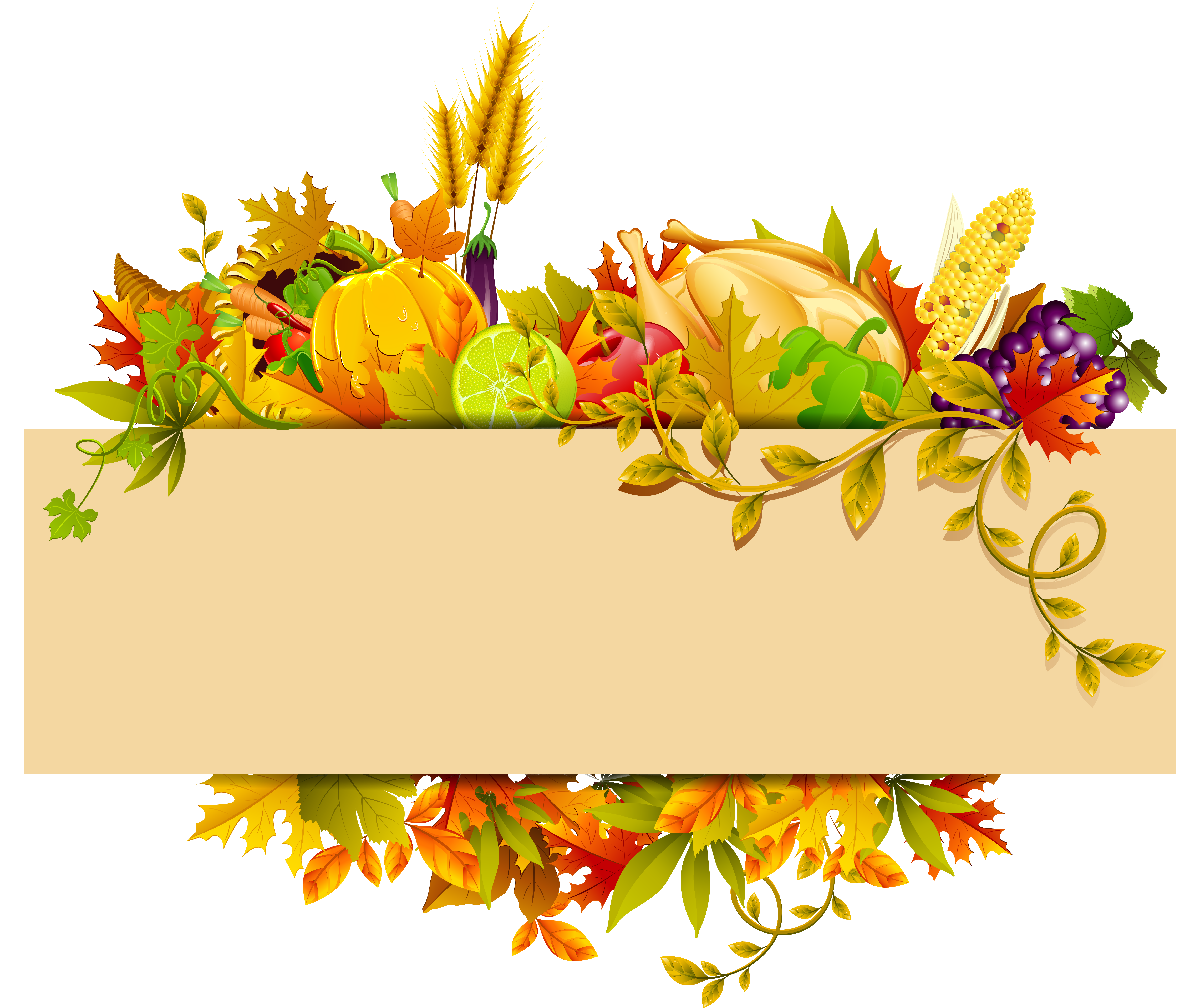 Thanksgiving Decor PNG Clipart Thanksgiving clip art