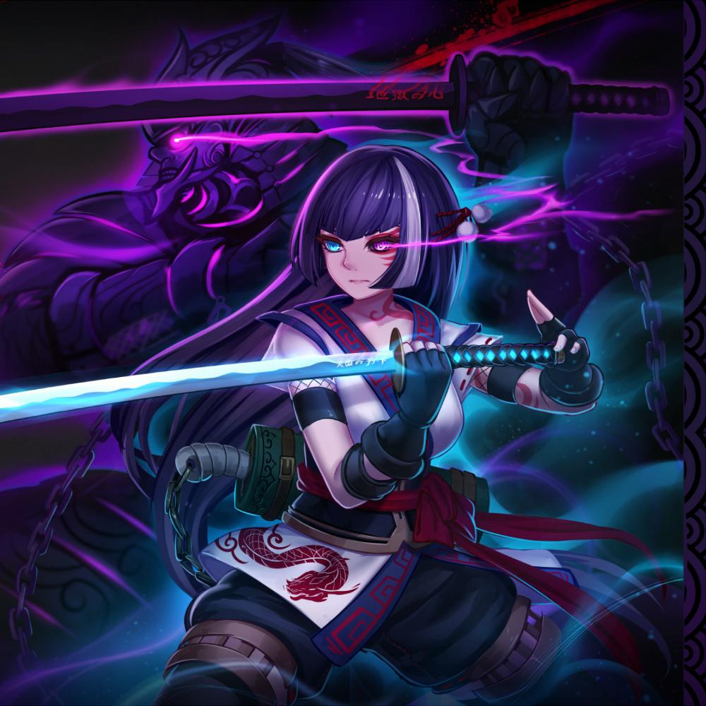 Anime Warrior Girl Full Hd 2k Wallpaper Animasi