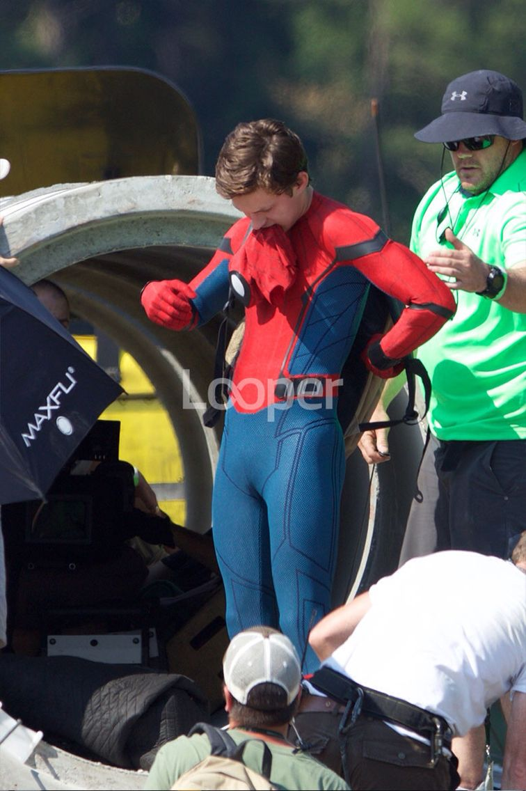 Tom on the set of Spider-Man:Homecoming