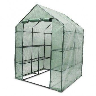 Begehbares Foliengewächshaus für die Anzucht Eurer Gartenpflanzen