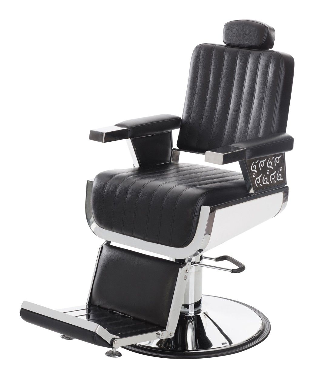 Omni Professional Barber Chair is a heavy duty classic barber chair with clean lines detailed upholstery and eye-popping chrome. | $745  sc 1 st  Pinterest & Omni Professional Barber Chair | Buy-Rite Beauty | Barber chair ...