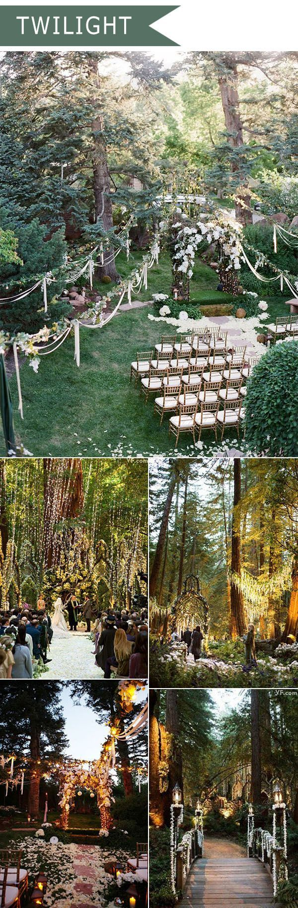 2016 Trending Twilight Forest Themed Wedding Ideas Wedding Themes