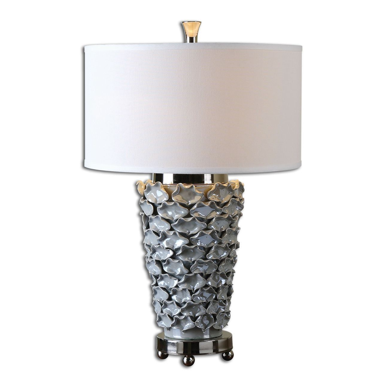 Gray Table Lamps Prepossessing Uttermost Petalo Pearl Gray Table Lamp  Products  Pinterest  Grey Decorating Design