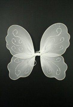 Girls Kids Fairy Wings Butterfly Fancy Dress Up Costume Party Pretend Play