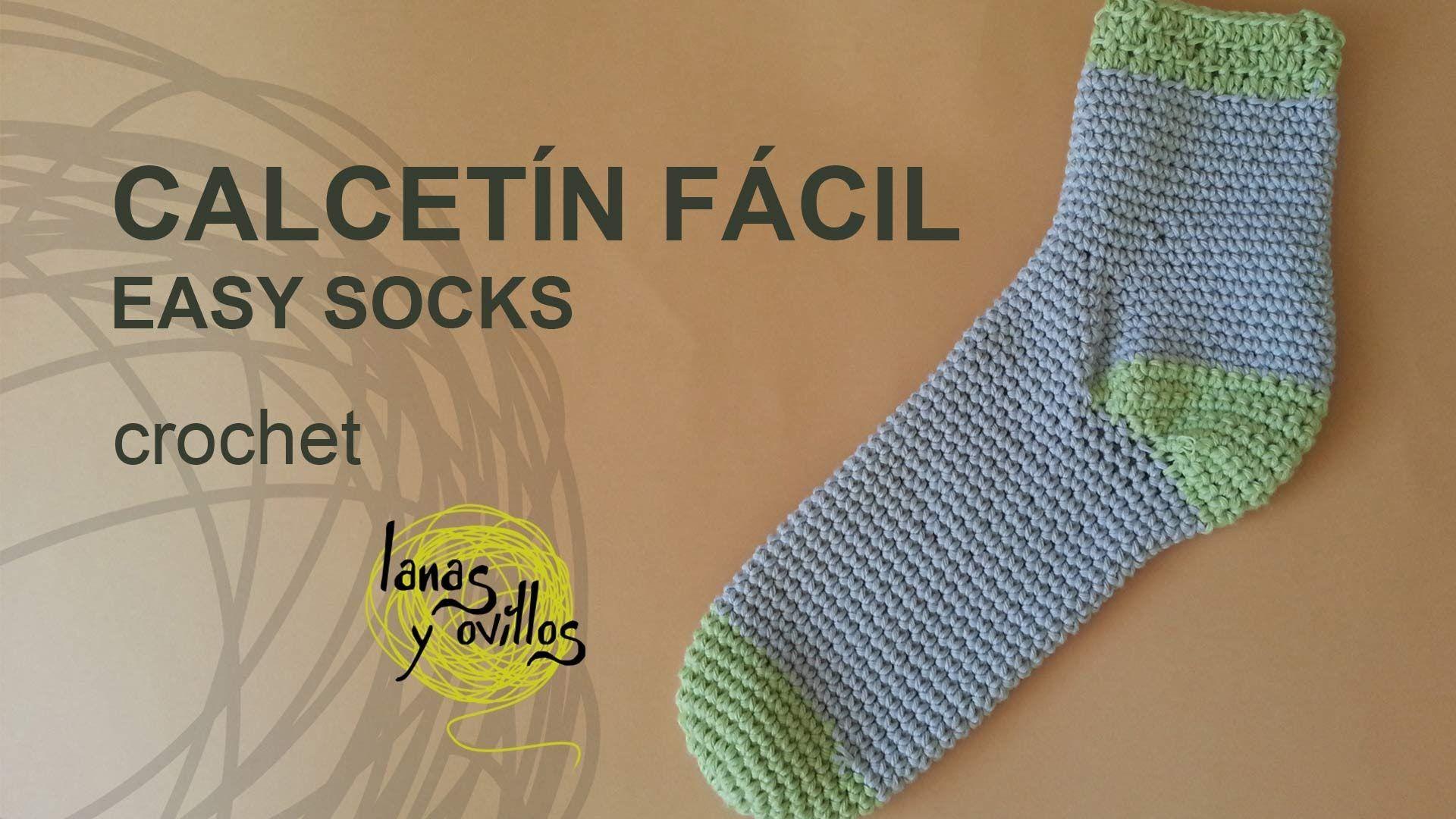 Tutorial Calcetines Crochet Fácil | Crochet stitches videos ...