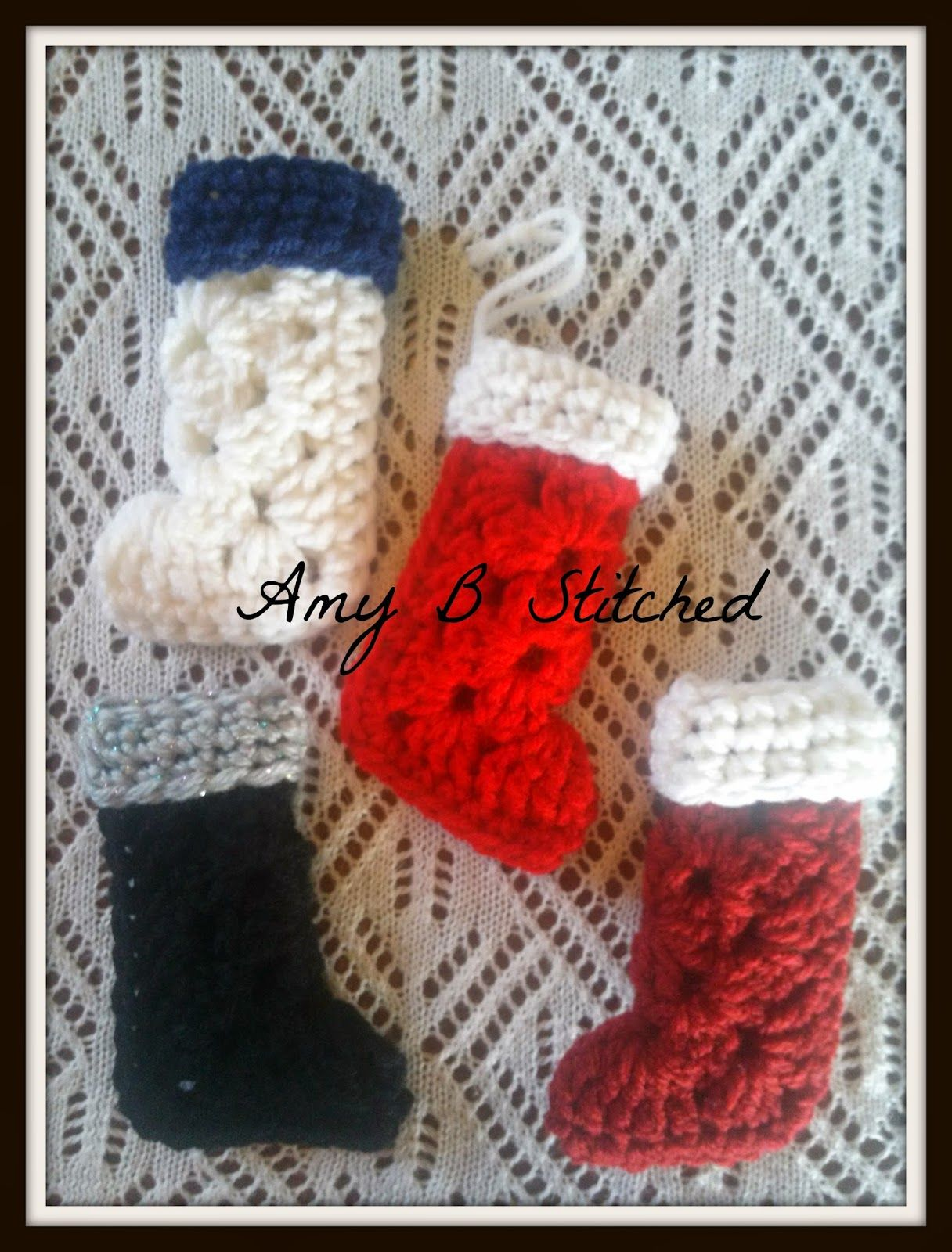 Granny Square Stocking Ornament Pattern Christmas Crafts Crochet