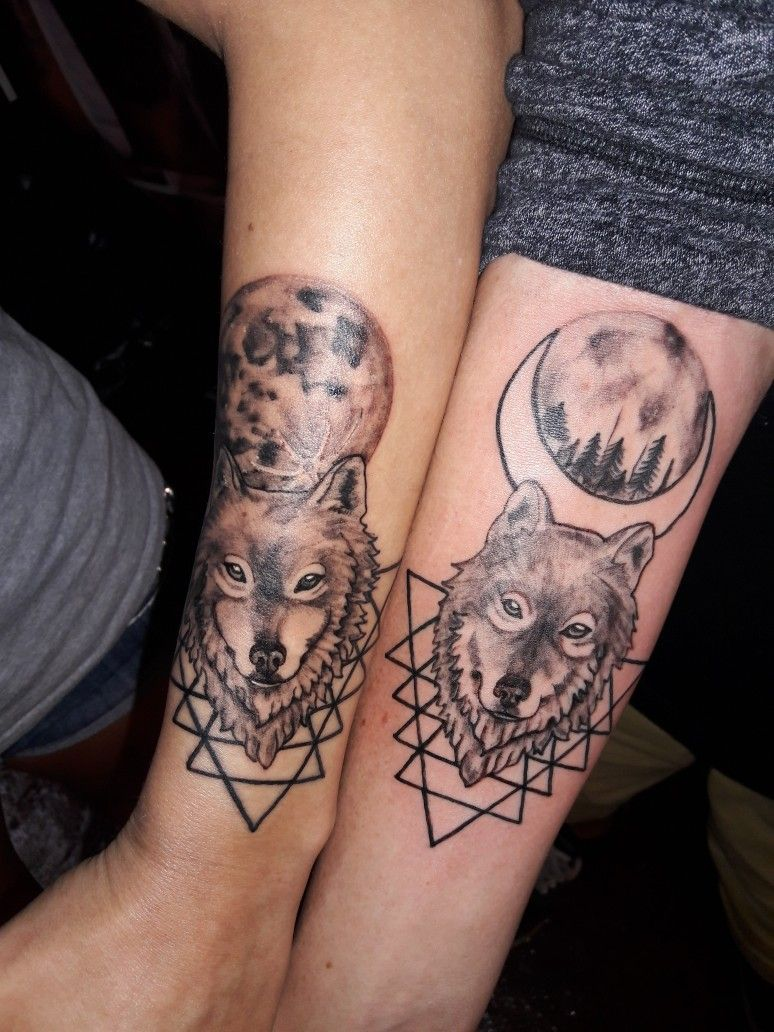 Matching Couples Wolf Tattoos Couples Wolf Tattoos Wolf Tattoos Tattoos