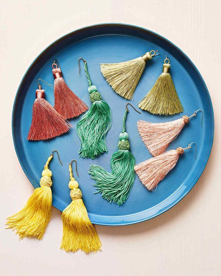 Colorful tassel earrings handmade gifts for her