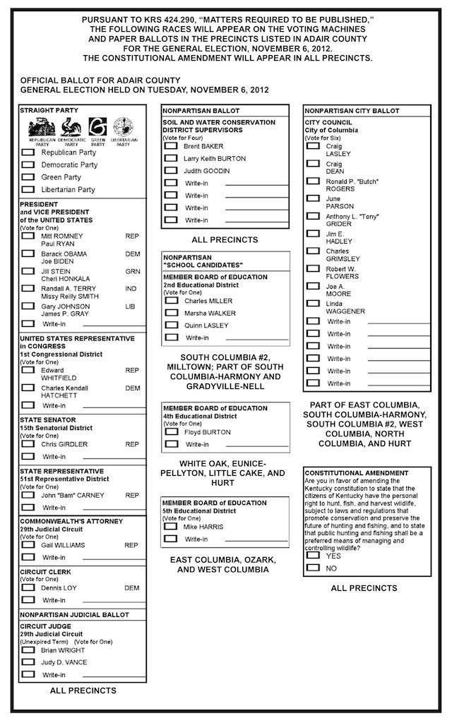 Sample ballot constructed to show Canadians what a MMP ballot ...