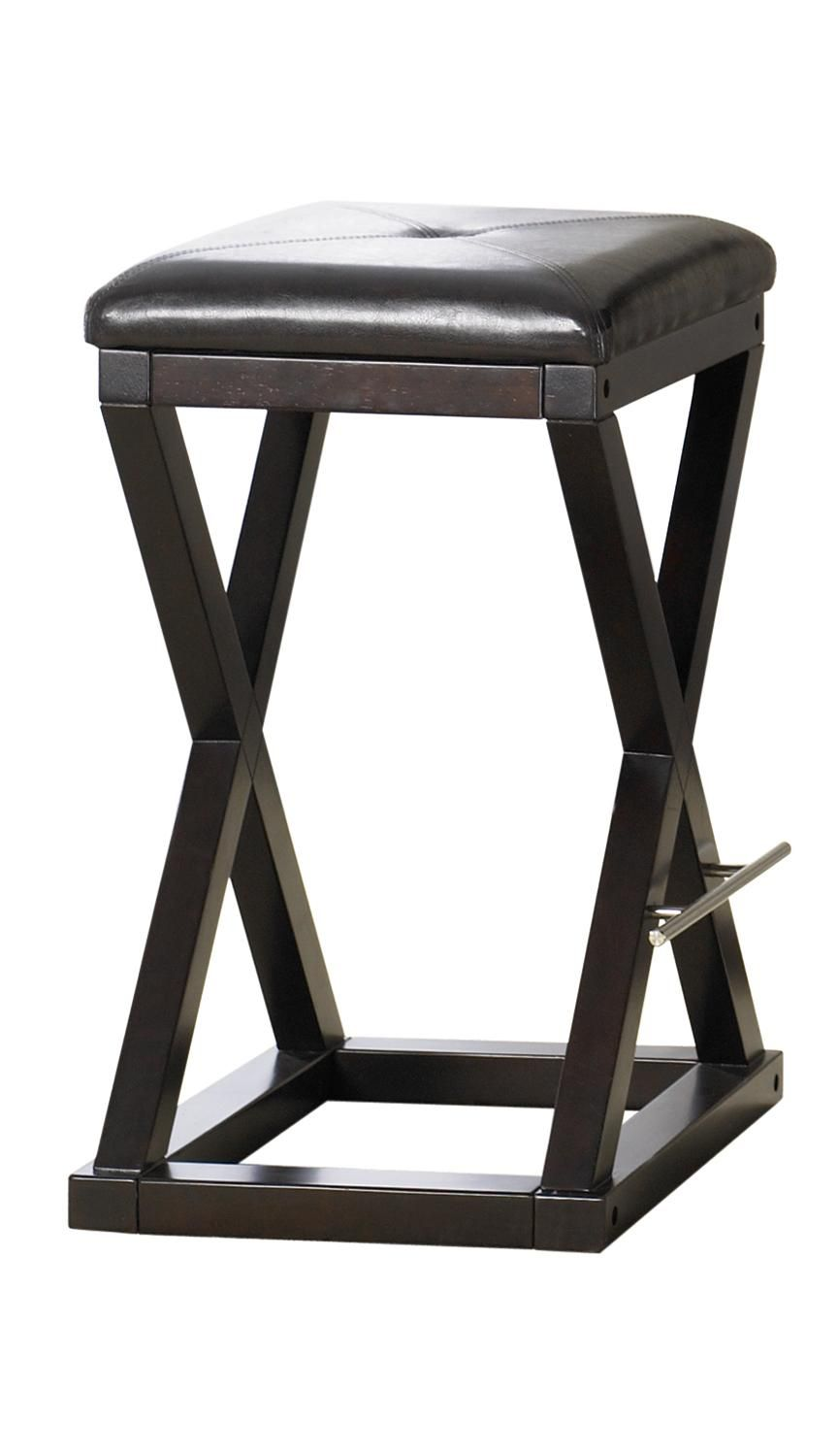 Turin Backless Counter Stool In Java Finish   TUR25 By Sitcom Furniture
