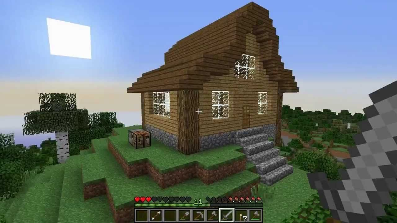 Let\'s Play Survival Minecraft: Episode 7 How to Build a Cool House ...