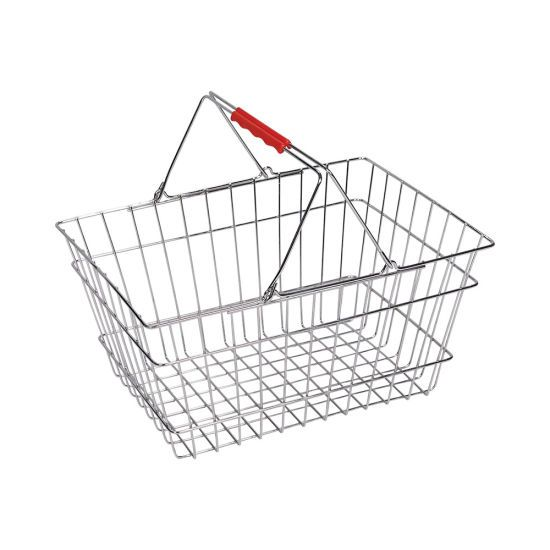 Double Pull Rod Trolley Shopping Basket with TPR W