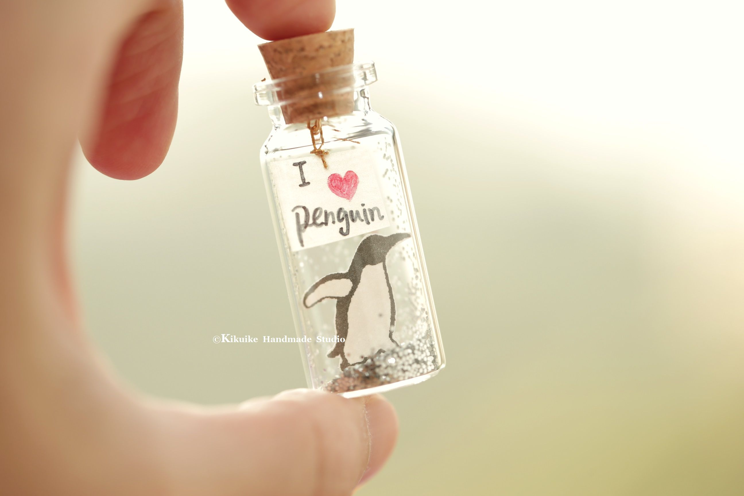 I love penguintiny message in a bottleminiaturespersonalised gift i love penguintiny message in a bottleminiaturespersonalised giftlove negle Images