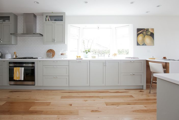 Painted kitchen cabinets gray horse by benjamin moore for Jillian harris kitchen designs