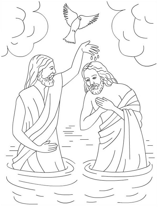 The Baptism Of Jesus In Jesus Love Me Colorig Page Coloring Page Color Luna In 2020 Jesus Coloring Pages Bible Coloring Pages Bible Coloring