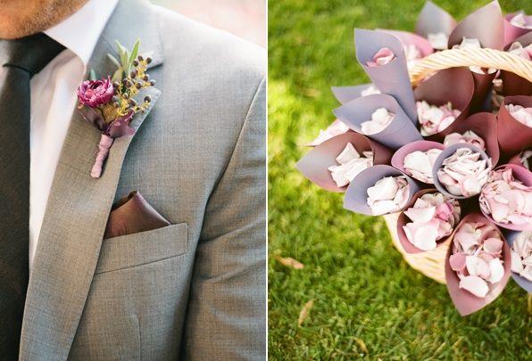 Elegant Purple Wedding At Black Swan Lake