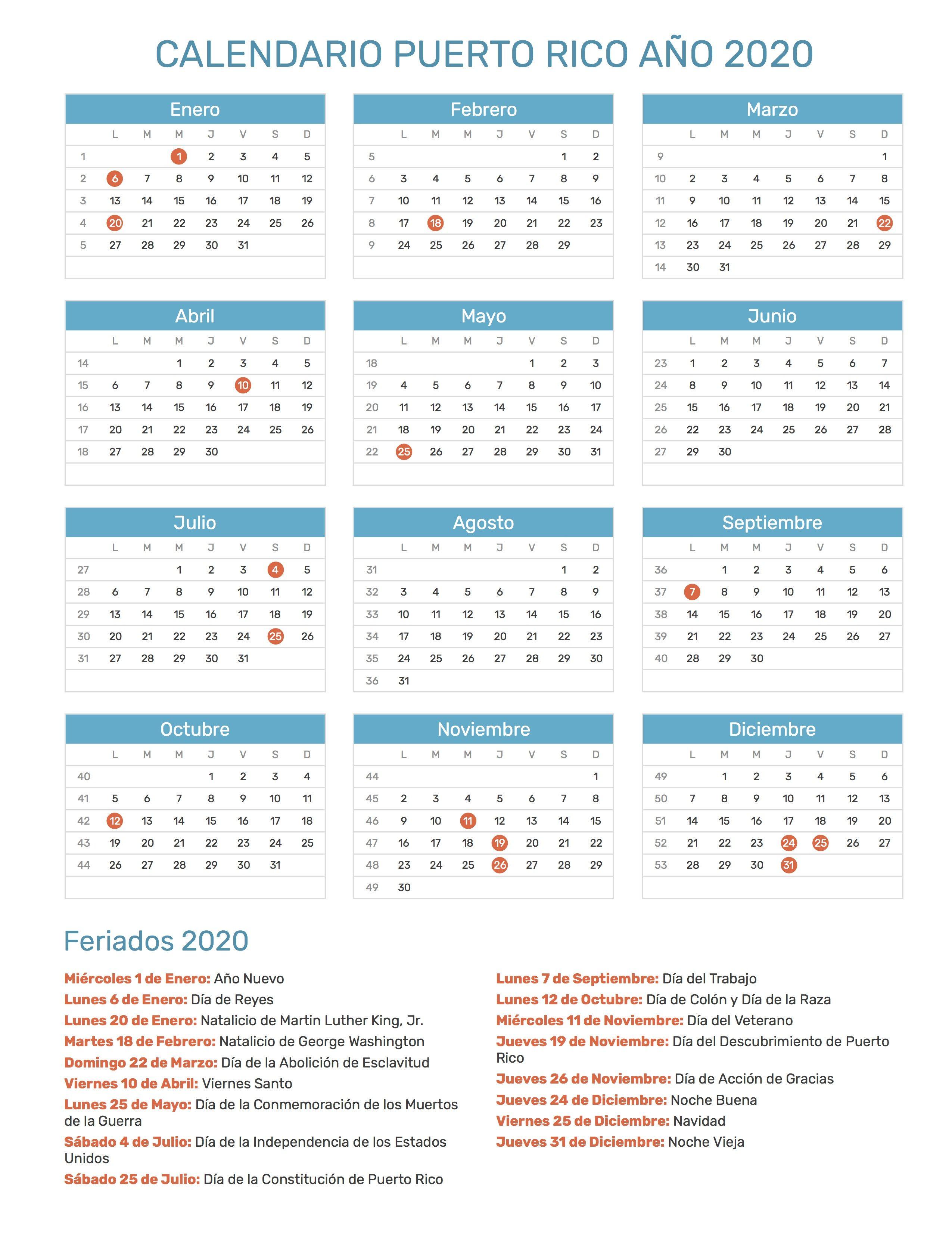 Calendario Escolar 2020 Argentina Para Imprimir.Feriados Puerto Rico 2020 Google Search Calendarios