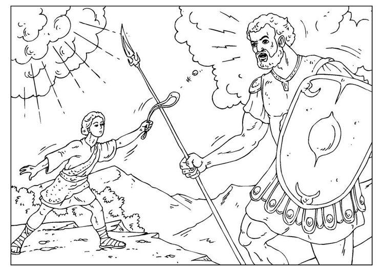 Malvorlage David und Goliath | Religion | Pinterest | Gestalten ...