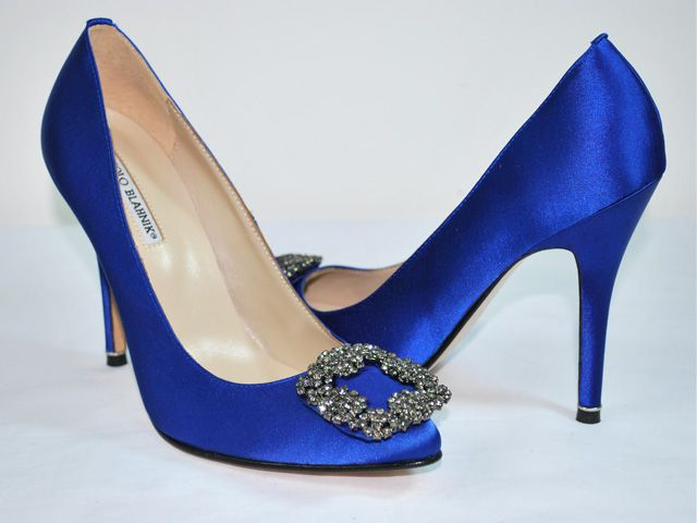 Manolo Blahnik Something Blue shoes. Thank you Carrie ...