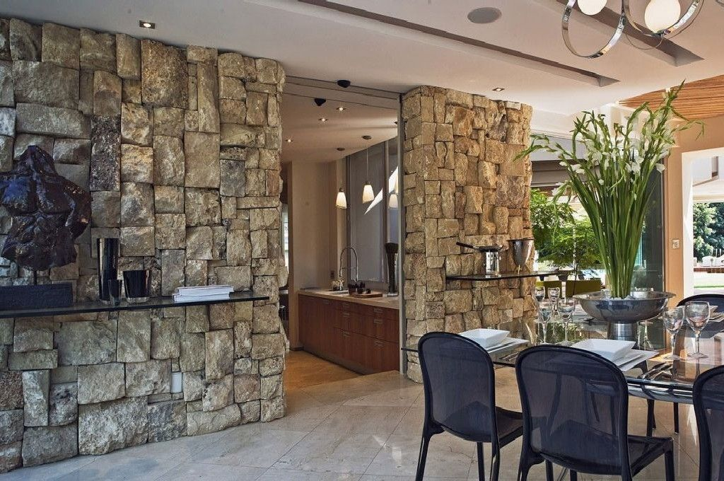 Best Interior House Design With Rocks Style Artistic Home Decor Stone Wall Interior Design Glass House Stone Walls Interior